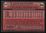 1989 Topps #307  Lance McCullers  Back Thumbnail