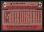 1989 Topps #754  Bob Brower  Back Thumbnail