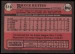 1989 Topps #518  Bruce Ruffin  Back Thumbnail