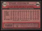 1989 Topps #725  Terry Steinbach  Back Thumbnail
