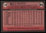 1989 Topps #148  Bill Pecota  Back Thumbnail