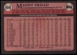1989 Topps #66  Manny Trillo  Back Thumbnail