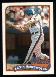 1989 Topps #85  Kevin McReynolds  Front Thumbnail