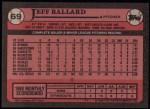 1989 Topps #69  Jeff Ballard  Back Thumbnail