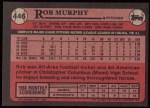 1989 Topps #446  Rob Murphy  Back Thumbnail