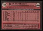 1989 Topps #434  Ken Patterson  Back Thumbnail