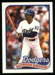 1989 Topps #62  Alfredo Griffin  Front Thumbnail