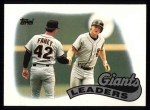 1989 Topps #351   Giants Leaders Front Thumbnail