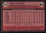 1989 Topps #56  Pat Tabler  Back Thumbnail