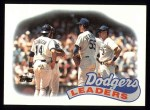 1989 Topps #669   Dodgers Leaders Front Thumbnail