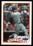 1989 Topps #587  Mike Stanley  Front Thumbnail