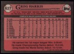 1989 Topps #627  Greg A. Harris  Back Thumbnail