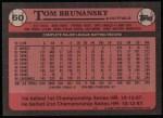 1989 Topps #60  Tom Brunansky  Back Thumbnail
