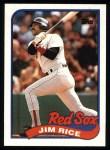 1989 Topps #245  Jim Rice  Front Thumbnail