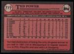 1989 Topps #777  Ted Power  Back Thumbnail