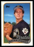 1989 Topps #423  Brian Fisher  Front Thumbnail
