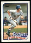 1989 Topps #340  Kirk Gibson  Front Thumbnail