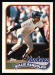 1989 Topps #635  Willie Randolph  Front Thumbnail