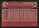 1989 Topps #469  Jose Bautista  Back Thumbnail