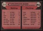 1989 Topps #111   -  Eric Davis Reds Leaders Back Thumbnail