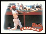 1989 Topps #111   -  Eric Davis Reds Leaders Front Thumbnail