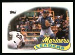 1989 Topps #459   -  Dave Valle Mariners Leaders Front Thumbnail