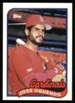 1989 Topps #442  Jose Oquendo  Front Thumbnail