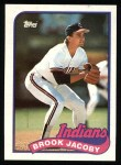 1989 Topps #739  Brook Jacoby  Front Thumbnail