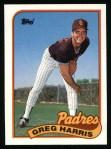 1989 Topps #194  Greg W.Harris  Front Thumbnail