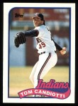 1989 Topps #599  Tom Candiotti  Front Thumbnail