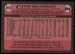 1989 Topps #495  Candy Maldonado  Back Thumbnail