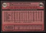 1989 Topps #761  Dante Bichette  Back Thumbnail