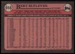1989 Topps #555  Bert Blyleven  Back Thumbnail