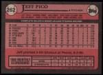 1989 Topps #262  Jeff Pico  Back Thumbnail