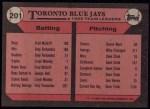 1989 Topps #201   -  Kelly Gruber Blue Jays Leaders Back Thumbnail