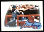 1989 Topps #201   -  Kelly Gruber Blue Jays Leaders Front Thumbnail
