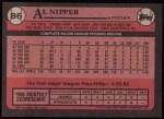 1989 Topps #86  Al Nipper  Back Thumbnail