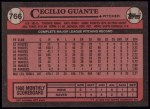 1989 Topps #766  Cecilio Guante  Back Thumbnail