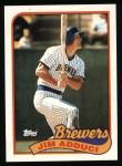 1989 Topps #338  Jim Adduci  Front Thumbnail