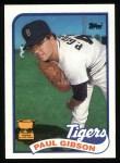 1989 Topps #583  Paul Gibson  Front Thumbnail