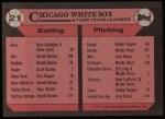 1989 Topps #21   -  Greg Walker White Sox Leaders Back Thumbnail