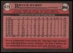 1989 Topps #675  Bruce Hurst  Back Thumbnail