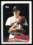 1989 Topps #675  Bruce Hurst  Front Thumbnail