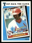 1989 Topps #662   -  Lou Brock Turn Back The Clock Front Thumbnail