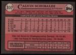 1989 Topps #337  Calvin Schiraldi  Back Thumbnail