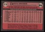 1989 Topps #478  Doug Drabek  Back Thumbnail