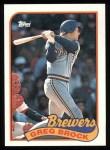 1989 Topps #517  Greg Brock  Front Thumbnail