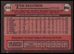 1989 Topps #456  Tim Belcher  Back Thumbnail