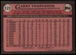 1989 Topps #121  Garry Templeton  Back Thumbnail