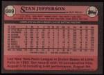 1989 Topps #689  Stan Jefferson  Back Thumbnail